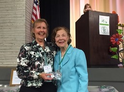 Fran accepting her emerald award