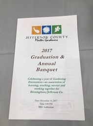 The program for he 2017 Graduation and Annual Banquet