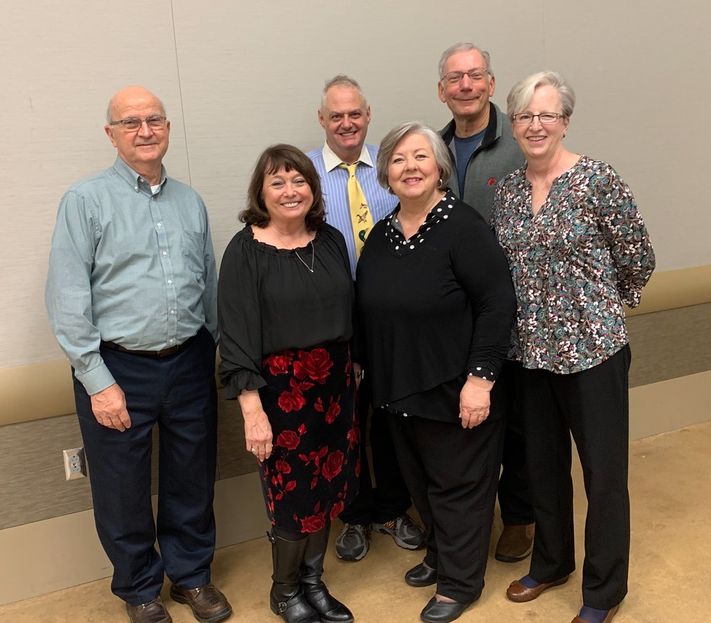 Master Gardener Officers 2020, Charlie, Carol Gary, Kinda, Rick and Jan