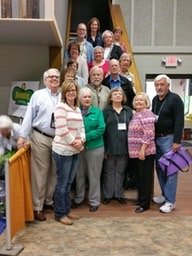Eighteen Master Gardeners who attended