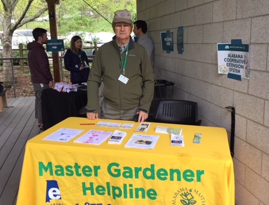 Charlie staffing the Master Gardener table