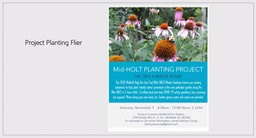 The project planting flyer that went out requesting volunteers