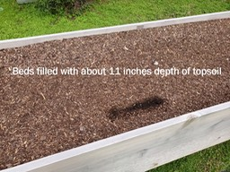 Top soil in the beds