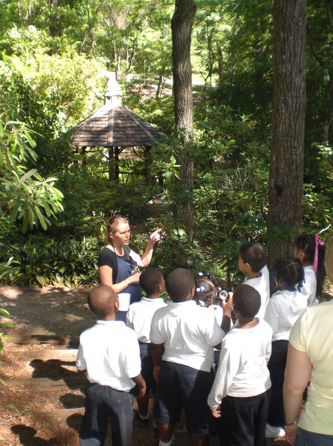 docent speaking to a group